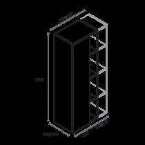 Columna de 1 puerta y ancho de huecos a medida