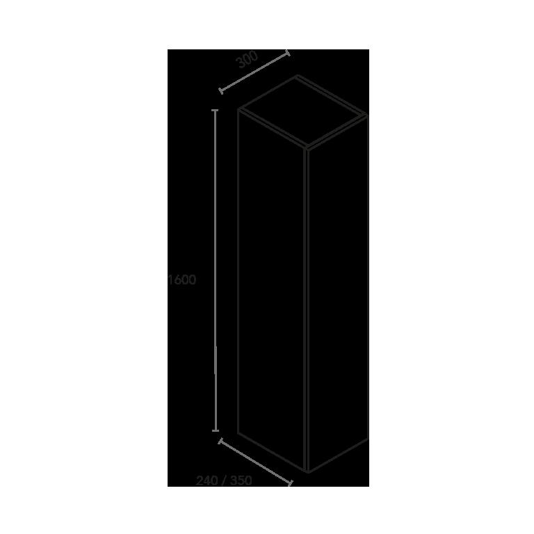 Columna de 1 puerta