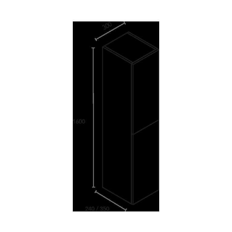 Columna de 2 puertas