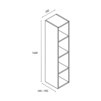Columna de 4 huecos