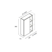 Módulo de 1 puerta y ancho de huecos a medida