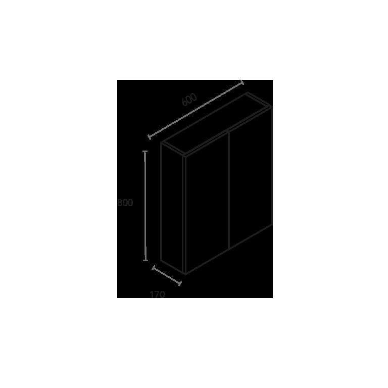 Módulo de 2 puertas