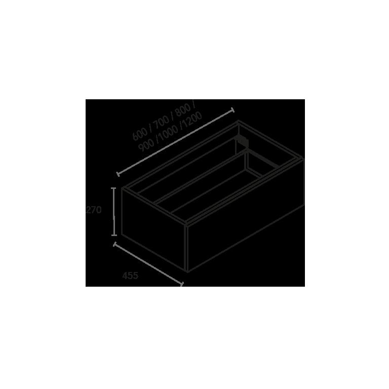Coqueta de 1 cajón