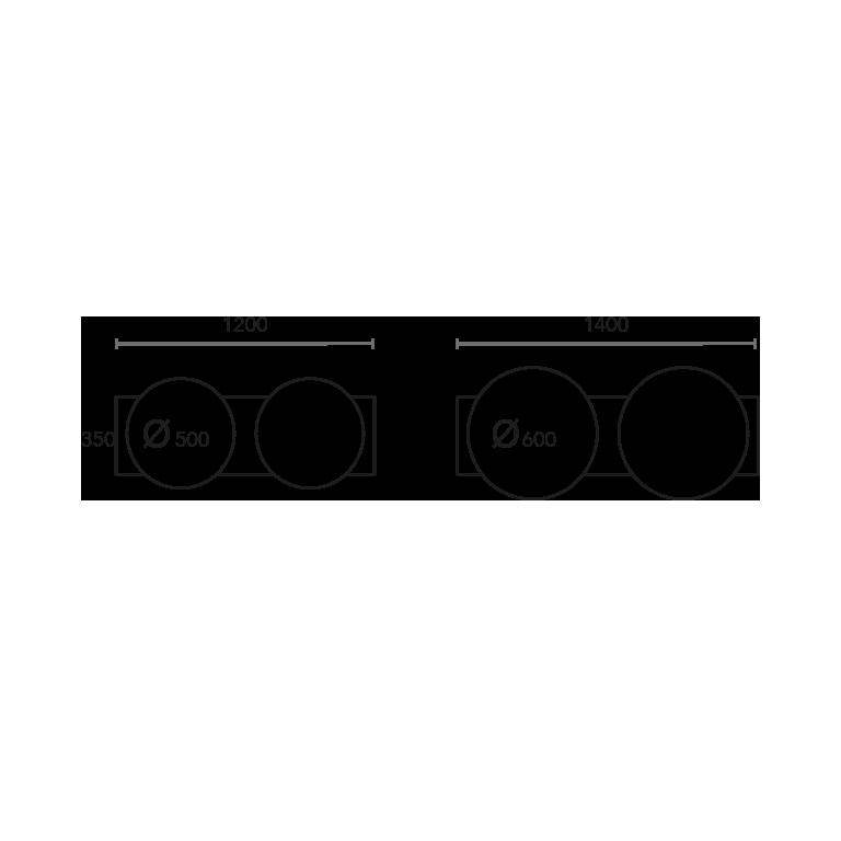 Espejo CLOCKS doble