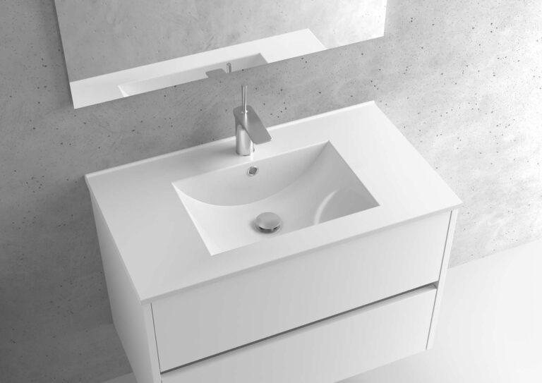 Encimera de porcelana lavabo centrado – Serie BERLÍN