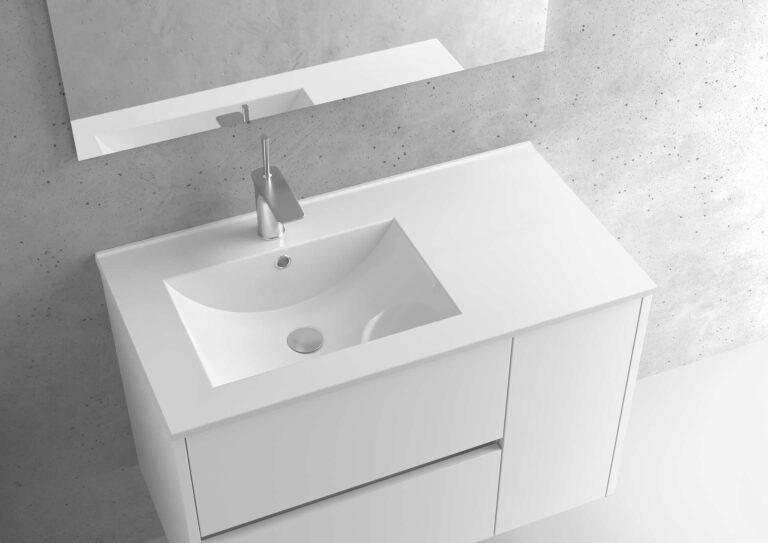 Encimera de porcelana lavabo izquierdo – Serie BERLÍN