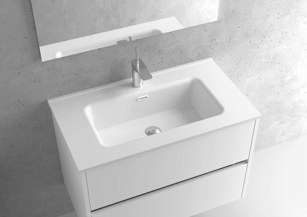 Encimera de porcelana lavabo centrado- Serie MUNICH