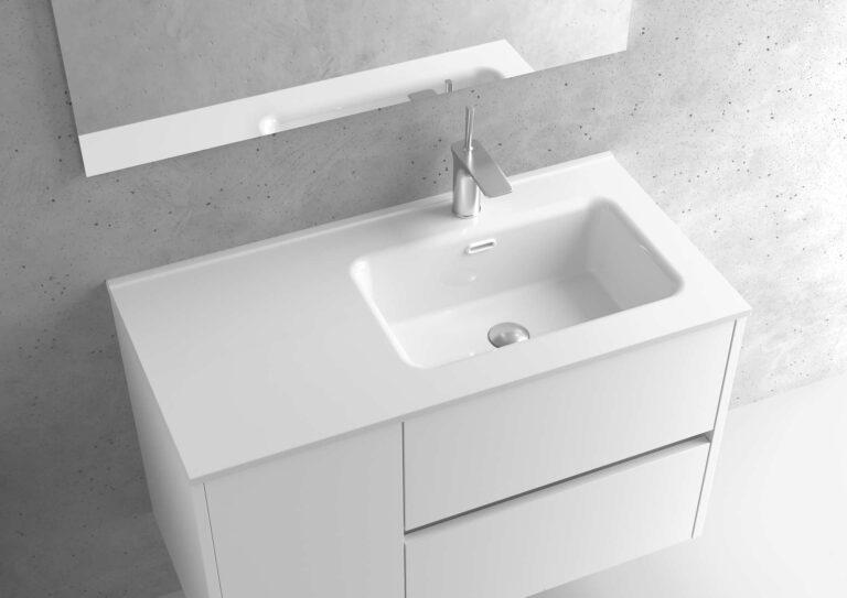 Encimera de porcelana lavabo derecho – Serie MUNICH