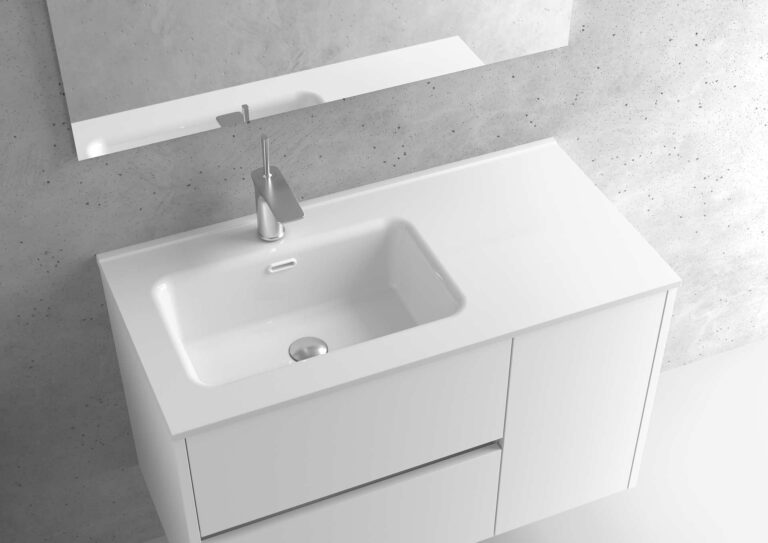 Encimera de porcelana lavabo izquierdo- Serie MUNICH